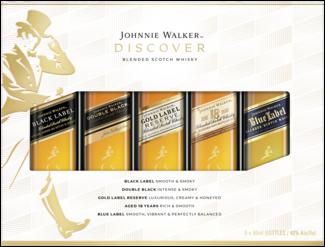 Johnnie Walker set 5X5CL