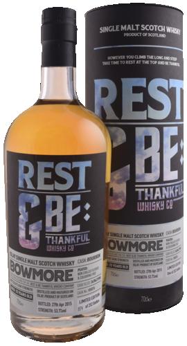 R&Bt Bowmore 1990 Bourbon 70CL Whisky 5060414940229