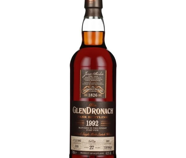 GlenDronach 27 years 1992 Port Pipe 70CL