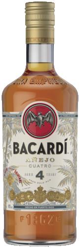 Bacardi Anejo Cuatro Anos 70CL