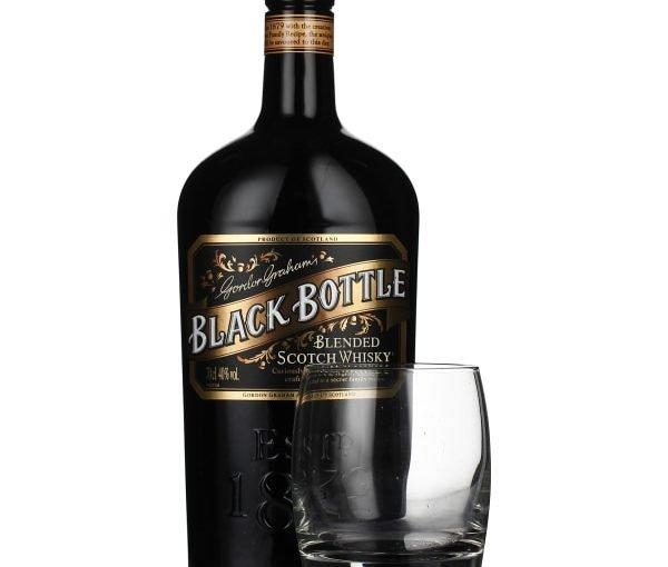 Black Bottle Giftset 70CL