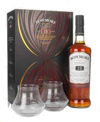 Bowmore 15YO giftpack 70CL