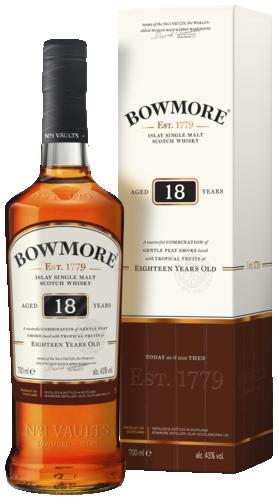 Bowmore 18 Years Single Malt Whisky 70CL